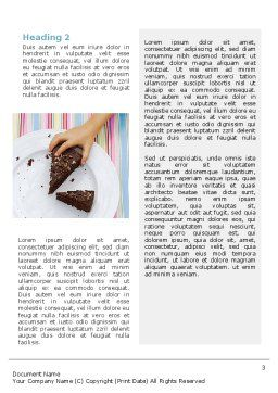 Piece of Cake Word Template, Second Inner Page, 02656, Food & Beverage — PoweredTemplate.com