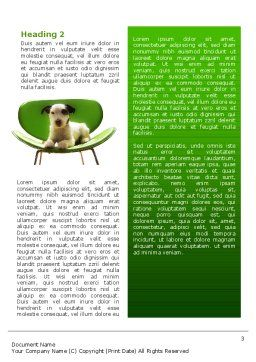 Puppy Word Template, Second Inner Page, 02658, Abstract/Textures — PoweredTemplate.com