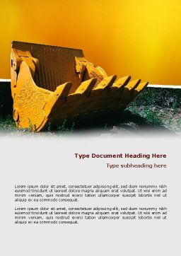 Dig Word Template, Cover Page, 02659, Utilities/Industrial — PoweredTemplate.com