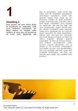 Dig Word Template, First Inner Page, 02659, Utilities/Industrial — PoweredTemplate.com