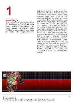 Running Man Word Template, First Inner Page, 02660, Sports — PoweredTemplate.com