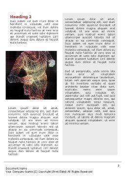 Running Man Word Template, Second Inner Page, 02660, Sports — PoweredTemplate.com