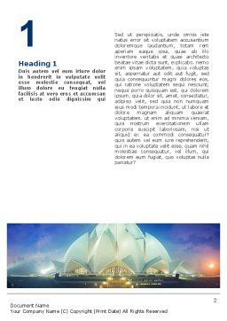 Lotus Temple Word Template First Inner Page