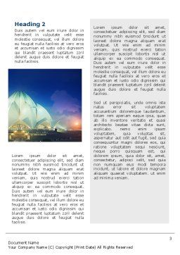 Lotus Temple Word Template Second Inner Page