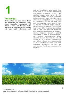 Green Field In A Sunny Day Word Template, First Inner Page, 02663, Nature & Environment — PoweredTemplate.com