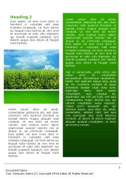 Green Field In A Sunny Day Word Template, Second Inner Page, 02663, Nature & Environment — PoweredTemplate.com
