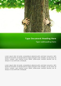 Tree Word Template, Cover Page, 02666, Nature & Environment — PoweredTemplate.com