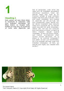 Tree Word Template, First Inner Page, 02666, Nature & Environment — PoweredTemplate.com