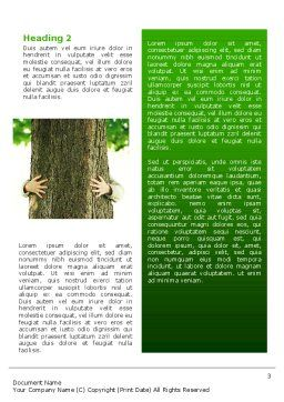 Tree Word Template, Second Inner Page, 02666, Nature & Environment — PoweredTemplate.com