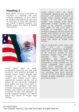 Mexico and USA Word Template, Second Inner Page, 02668, Flags/International — PoweredTemplate.com