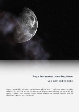 Moon Word Template, Cover Page, 02670, Nature & Environment — PoweredTemplate.com