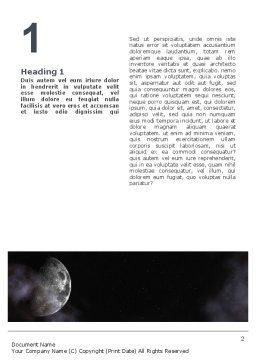 Moon Word Template, First Inner Page, 02670, Nature & Environment — PoweredTemplate.com