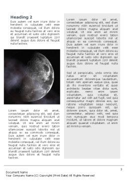 Moon Word Template, Second Inner Page, 02670, Nature & Environment — PoweredTemplate.com