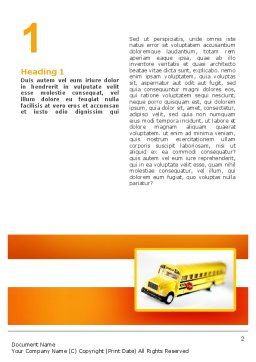 School Bus Model Word Template, First Inner Page, 02672, Cars/Transportation — PoweredTemplate.com