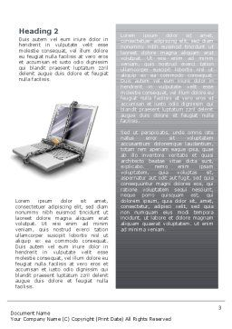 Information Security Word Template, Second Inner Page, 02673, Technology, Science & Computers — PoweredTemplate.com