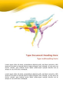 Magic of Artistic Gymnastics Word Template, Cover Page, 02676, Sports — PoweredTemplate.com