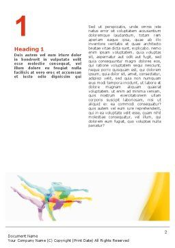Magic of Artistic Gymnastics Word Template, First Inner Page, 02676, Sports — PoweredTemplate.com