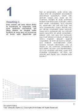 Data Flow Word Template, First Inner Page, 02678, Telecommunication — PoweredTemplate.com