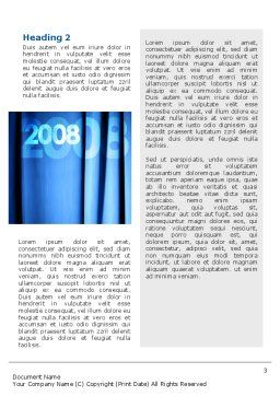 Year 2011 Word Template, Second Inner Page, 02679, Holiday/Special Occasion — PoweredTemplate.com