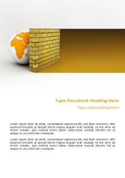 Firewall Word Template Cover Page