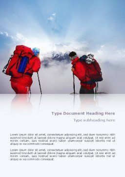 Alpinist Word Template, Cover Page, 02682, Sports — PoweredTemplate.com