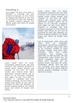 Alpinist Word Template, Second Inner Page, 02682, Sports — PoweredTemplate.com