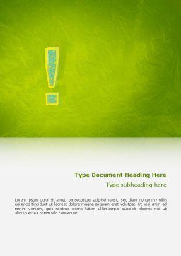 Exclamation Mark Word Template, Cover Page, 02683, Abstract/Textures — PoweredTemplate.com