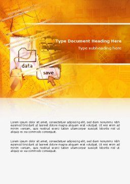 Data Saving Word Template, Cover Page, 02685, Technology, Science & Computers — PoweredTemplate.com