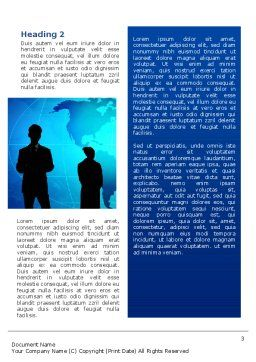 Contracting People Word Template, Second Inner Page, 02686, People — PoweredTemplate.com
