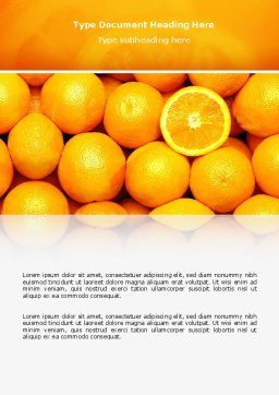 Oranges Word Template, Cover Page, 02688, Food & Beverage — PoweredTemplate.com