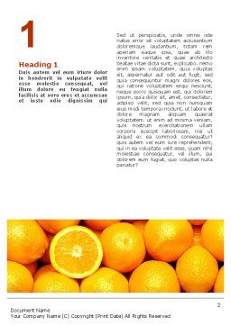Oranges Word Template, First Inner Page, 02688, Food & Beverage — PoweredTemplate.com