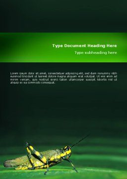Grasshopper Word Template, Cover Page, 02690, Abstract/Textures — PoweredTemplate.com