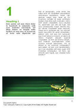 Grasshopper Word Template, First Inner Page, 02690, Abstract/Textures — PoweredTemplate.com