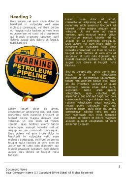 Petroleum Pipeline Word Template Second Inner Page