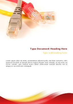 Ethernet Patch Cord Word Template, Cover Page, 02692, Telecommunication — PoweredTemplate.com