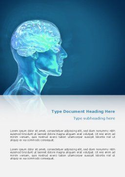 Brain Activity Word Template, Cover Page, 02693, Medical — PoweredTemplate.com