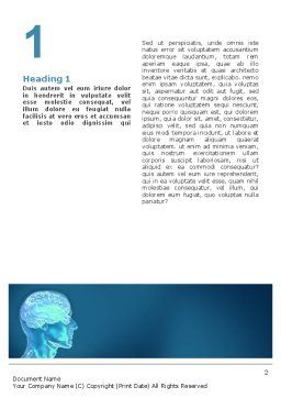 Brain Activity Word Template, First Inner Page, 02693, Medical — PoweredTemplate.com