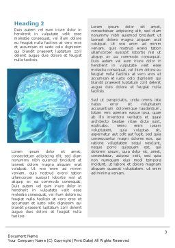 Brain Activity Word Template, Second Inner Page, 02693, Medical — PoweredTemplate.com