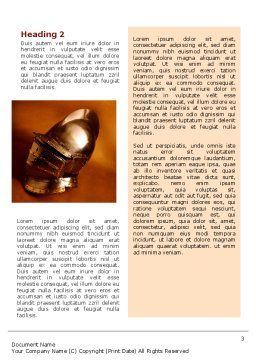 Knight's Helmet Word Template Second Inner Page