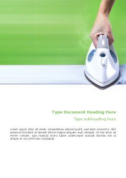 Ironing Word Template, Cover Page, 02697, Technology, Science & Computers — PoweredTemplate.com