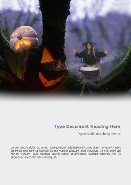 Witch Free Word Template, Cover Page, 02698, Holiday/Special Occasion — PoweredTemplate.com