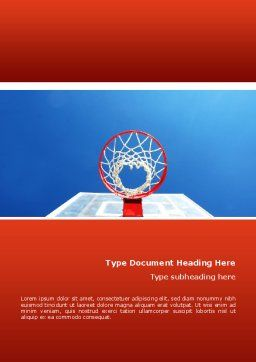 Basket Word Template, Cover Page, 02699, Sports — PoweredTemplate.com