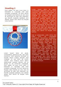 Basket Word Template, Second Inner Page, 02699, Sports — PoweredTemplate.com