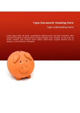 Savings Word Template, Cover Page, 02706, Financial/Accounting — PoweredTemplate.com