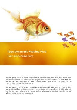 Goldfish Word Template Cover Page