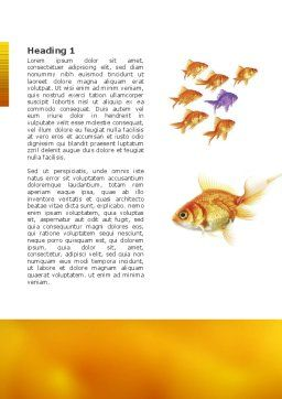 Goldfish Word Template First Inner Page