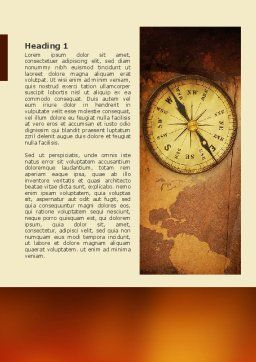 Old Compass Word Template, First Inner Page, 02716, Global — PoweredTemplate.com