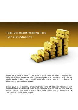 Gold Reserves Word Template, Cover Page, 02717, Financial/Accounting — PoweredTemplate.com