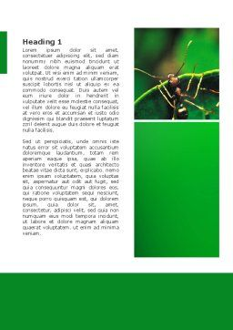 Ants Word Template, First Inner Page, 02718, Nature & Environment — PoweredTemplate.com