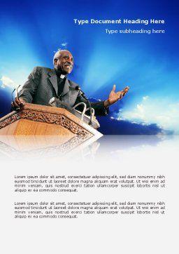 Preacher Word Template, Cover Page, 02719, Religious/Spiritual — PoweredTemplate.com